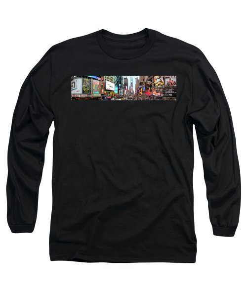 New York Times Square Panorama Long Sleeve T-Shirt