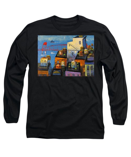 New York,red Bridge Long Sleeve T-Shirt