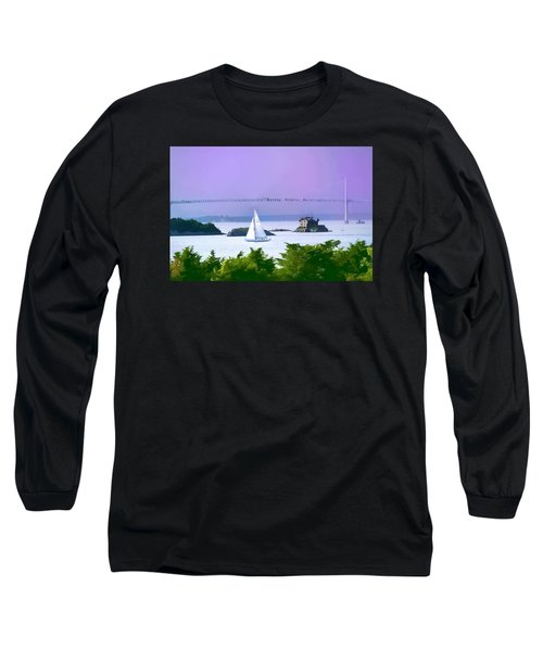 Newport Water Color Effect Long Sleeve T-Shirt by Tom Prendergast