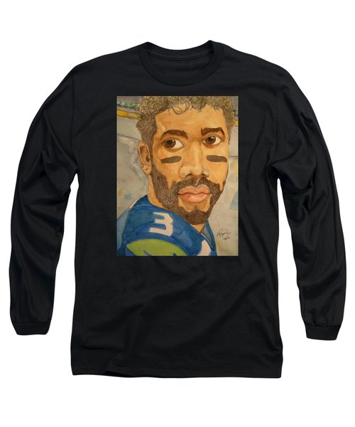 New School Football Seattle Long Sleeve T-Shirt by Rand Swift