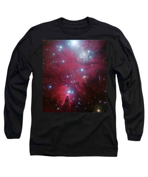 Long Sleeve T-Shirt featuring the photograph Ngc 2264 And The Christmas Tree Star Cluster by Eso