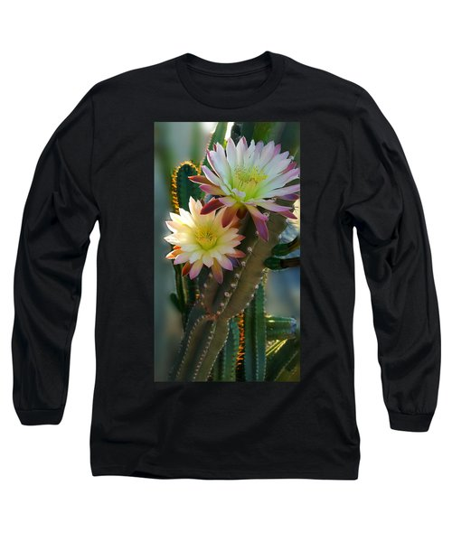 Long Sleeve T-Shirt featuring the photograph Night-blooming Cereus 4 by Marilyn Smith