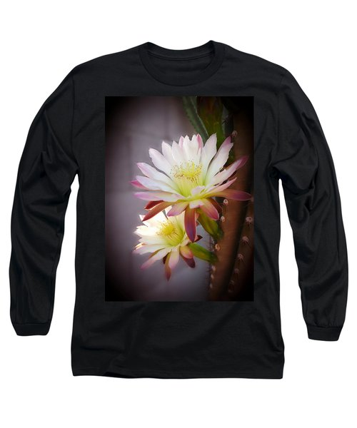 Long Sleeve T-Shirt featuring the photograph Night Blooming Cereus by Marilyn Smith