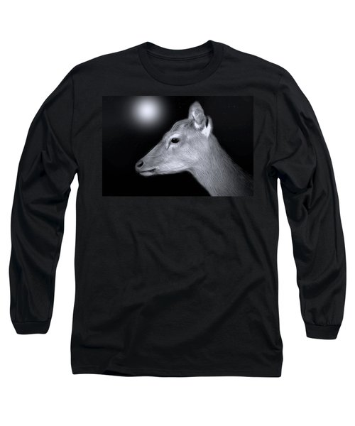 Long Sleeve T-Shirt featuring the photograph Night Doe by Marion Johnson