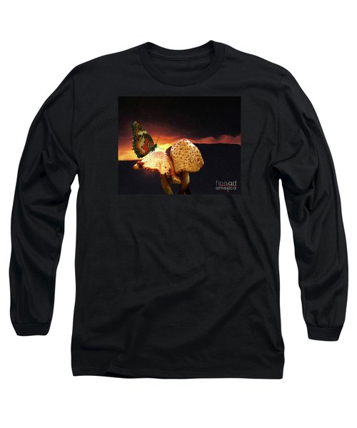 Long Sleeve T-Shirt featuring the photograph Night Fall by Donna Brown