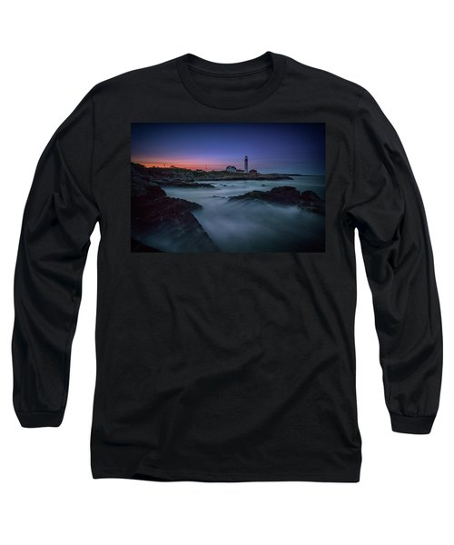 Night Falls On Portland Head Long Sleeve T-Shirt