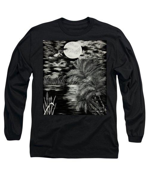 Night Flight Long Sleeve T-Shirt by Terri Mills
