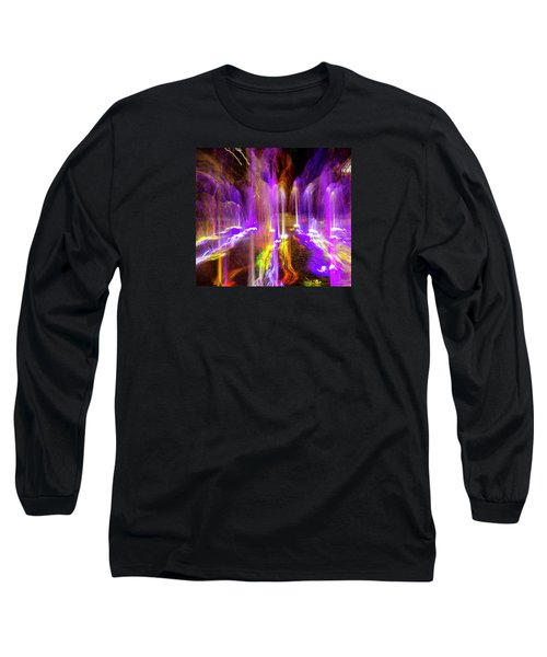 Night Fountain  Long Sleeve T-Shirt