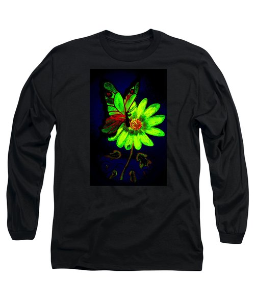 Night Glow Long Sleeve T-Shirt by Maria Urso