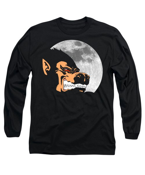 Night Monkey Long Sleeve T-Shirt by Danilo Caro