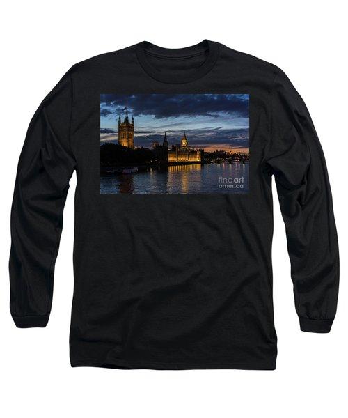 Night Parliament And Big Ben Long Sleeve T-Shirt