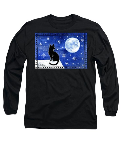 Night Patrol At Wintertime Long Sleeve T-Shirt