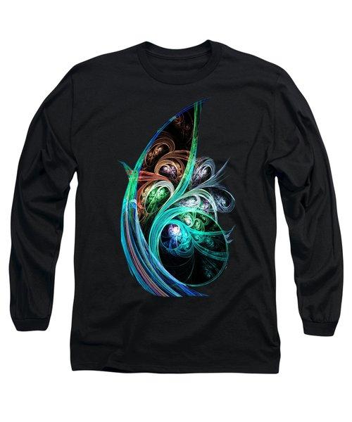 Night Phoenix Long Sleeve T-Shirt by Anastasiya Malakhova