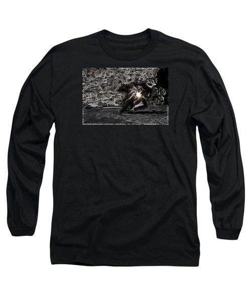 Night Rider Long Sleeve T-Shirt by Maciek Froncisz