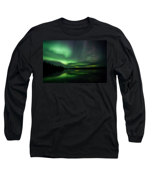 Long Sleeve T-Shirt featuring the photograph Night Show by Yvette Van Teeffelen