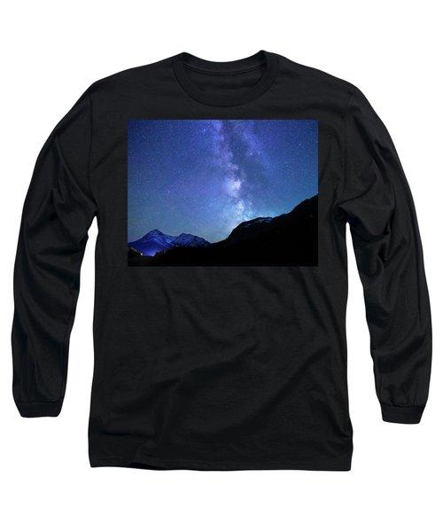 Night Sky In David Thomson Country Long Sleeve T-Shirt by Dan Jurak