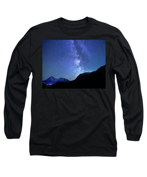 Night Sky In David Thomson Country Long Sleeve T-Shirt