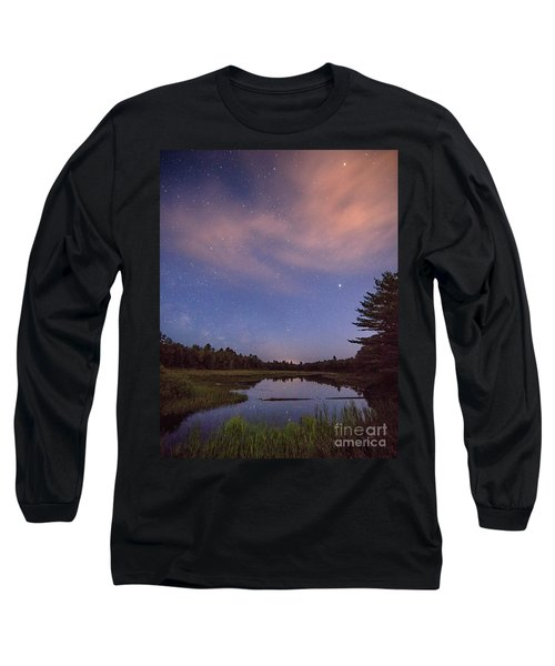 Night Sky Over Maine Long Sleeve T-Shirt