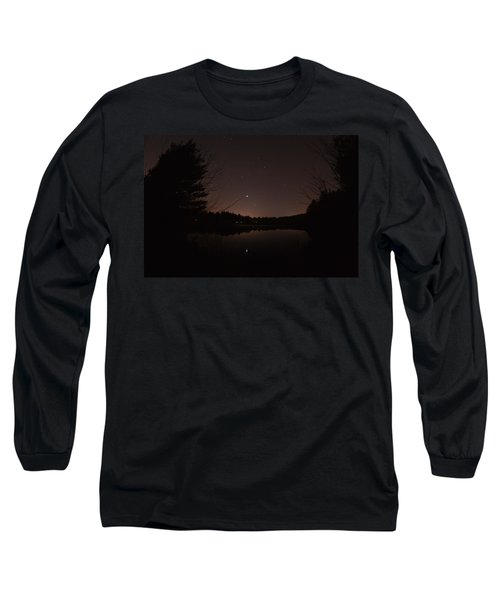 Night Sky Over The Pond Long Sleeve T-Shirt