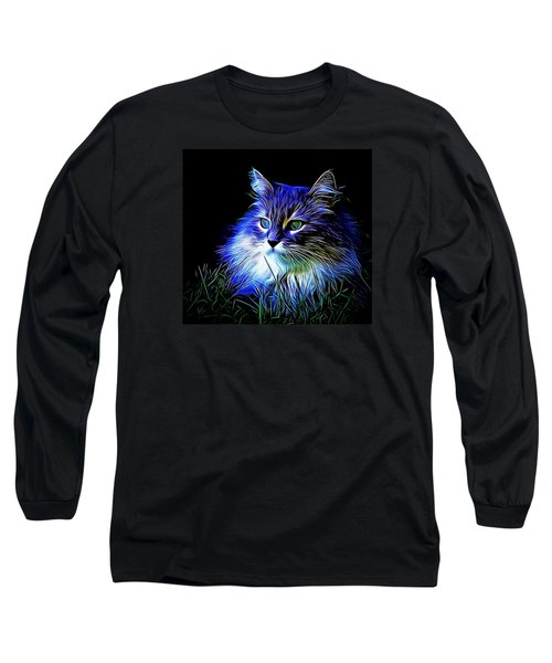 Long Sleeve T-Shirt featuring the photograph Night Stalker by Kathy Kelly