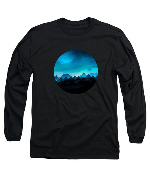 Night Storm In The Mountains Long Sleeve T-Shirt
