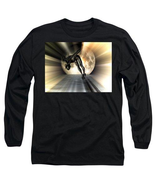 Night Swan Long Sleeve T-Shirt