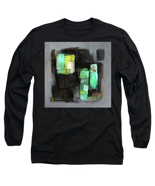 Texture Of Night Painting Long Sleeve T-Shirt by Behzad Sohrabi