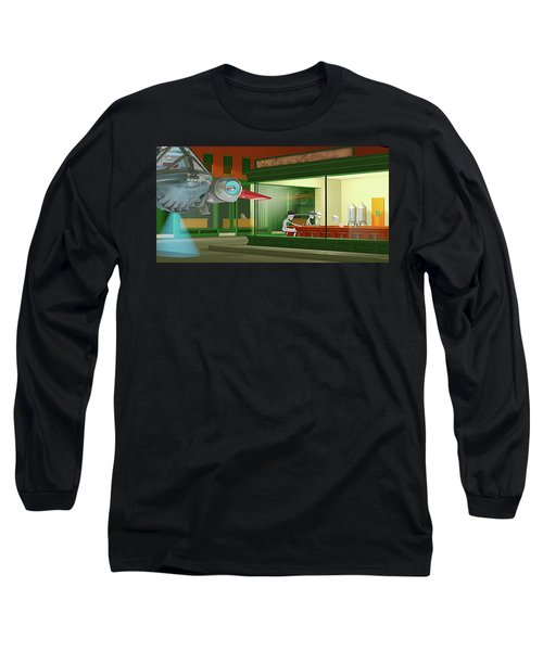 Long Sleeve T-Shirt featuring the photograph Nighthawks Invasion by Peter J Sucy
