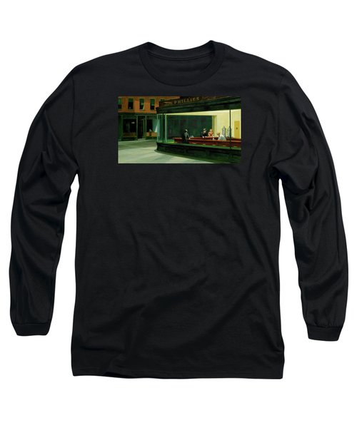 Nighthawks Long Sleeve T-Shirt by Sean McDunn