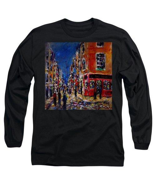 Nightlife, Temple Bar Dublin  Long Sleeve T-Shirt