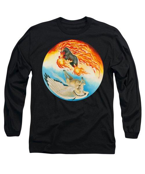 Nightmare And Mesa Pegasus Yin Yang Long Sleeve T-Shirt