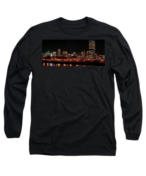 Nighttime In Pdx Long Sleeve T-Shirt