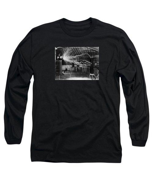 Nikola Tesla - Bolts Of Electricity Long Sleeve T-Shirt