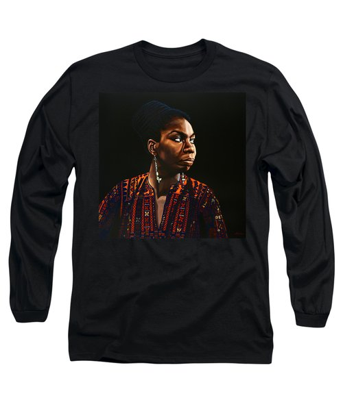 Nina Simone Painting Long Sleeve T-Shirt