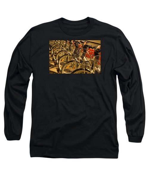 Bikes For Hire In Lyon Long Sleeve T-Shirt