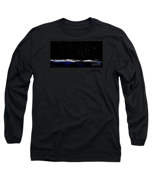 Nite Fall On Maui Long Sleeve T-Shirt by Fred Wilson