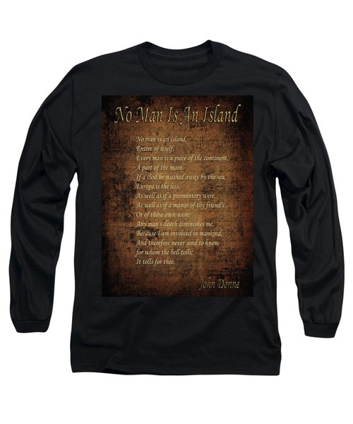 No Man Is An Island Long Sleeve T-Shirt by Andrew Fare