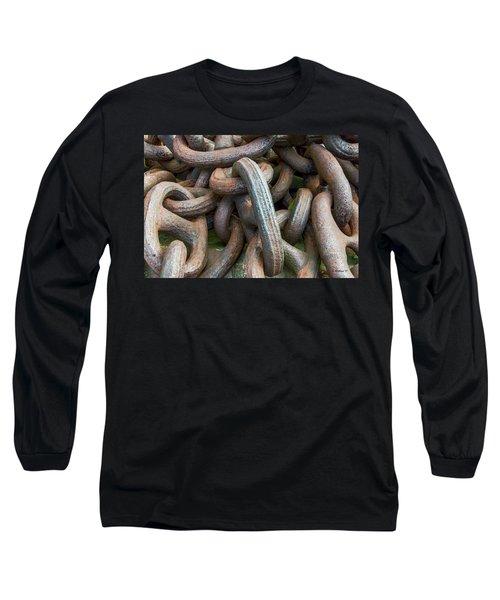 No Weak Links Long Sleeve T-Shirt by Brian Wallace