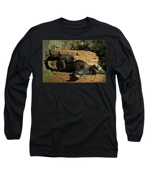 Long Sleeve T-Shirt featuring the photograph No Worries by Jessica Brawley