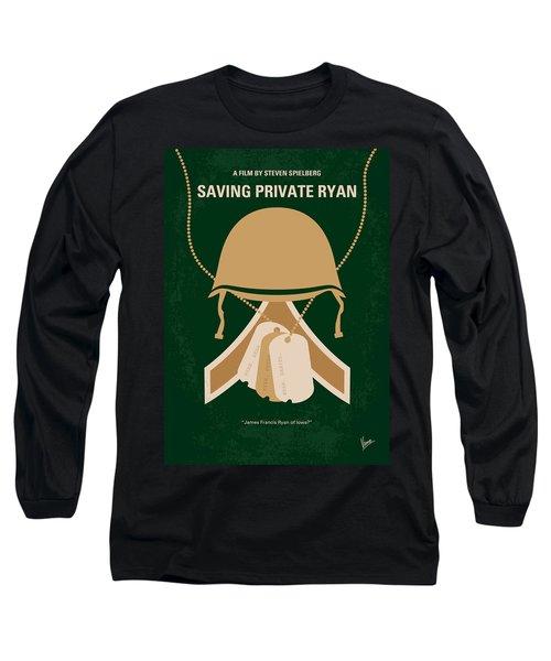 No520 My Saving Private Ryan Minimal Movie Poster Long Sleeve T-Shirt