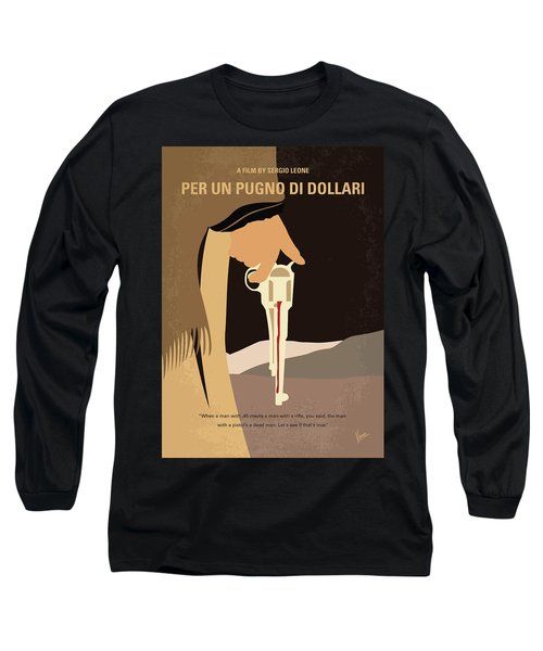 No721 My A Fistful Of Dollars Minimal Movie Poster Long Sleeve T-Shirt
