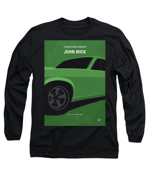 Long Sleeve T-Shirt featuring the digital art No759 My John Wick Minimal Movie Poster by Chungkong Art