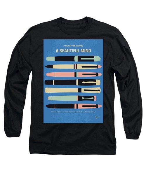 No809 My A Beautiful Mind Minimal Movie Poster Long Sleeve T-Shirt