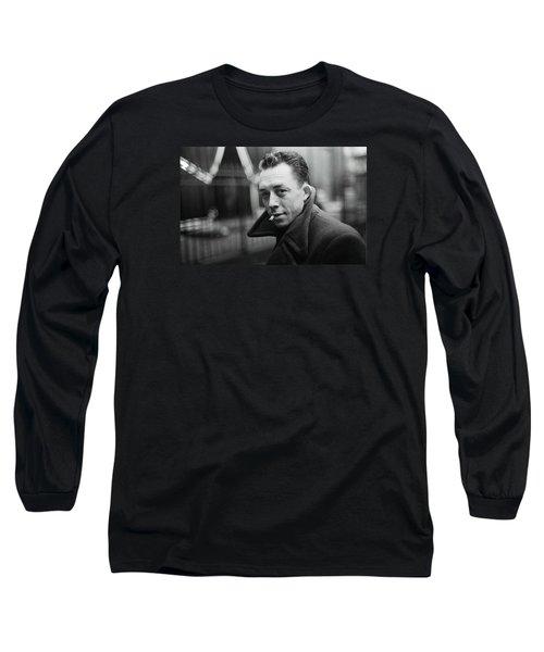 Nobel Prize Winning Writer Albert Camus  Unknown Date-2015           Long Sleeve T-Shirt by David Lee Guss