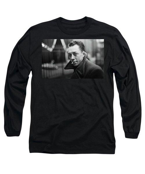 Nobel Prize Winning Writer Albert Camus Paris 1944 - 2015           Long Sleeve T-Shirt