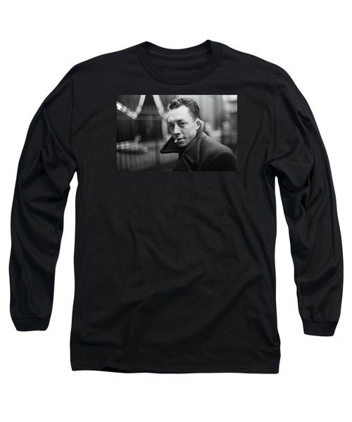 Nobel Prize Winning Writer Albert Camus  Unknown Date-2015           Long Sleeve T-Shirt