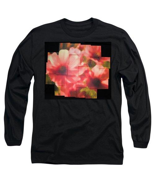 Nocturnal Pinks Photo Sculpture Long Sleeve T-Shirt by Michael Bessler