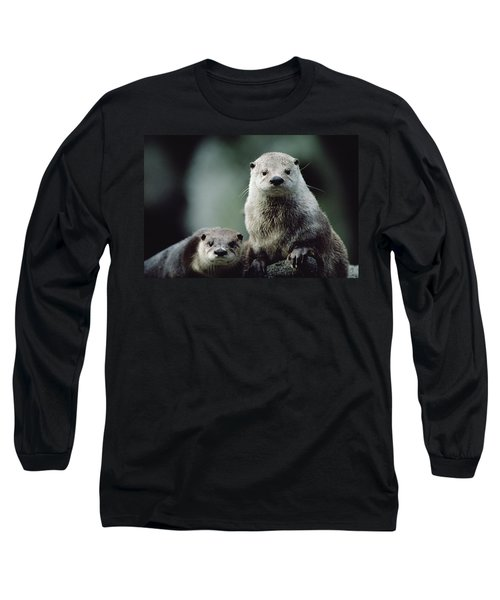 North American River Otter Lontra Long Sleeve T-Shirt by Gerry Ellis