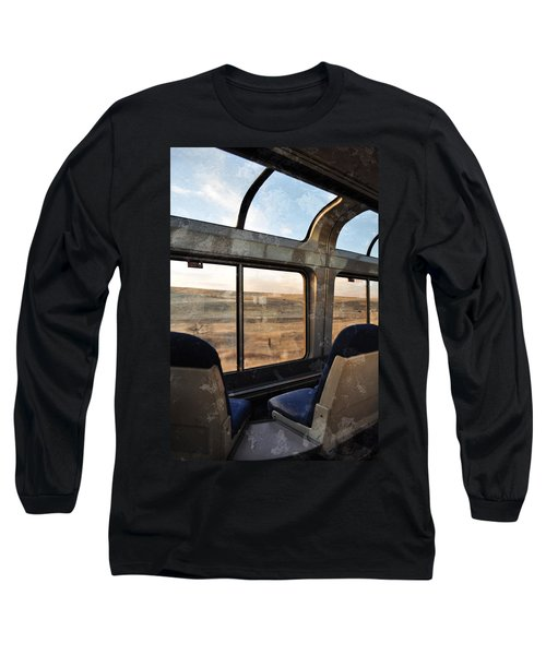 North Dakota Great Plains Observation Deck Long Sleeve T-Shirt by Kyle Hanson