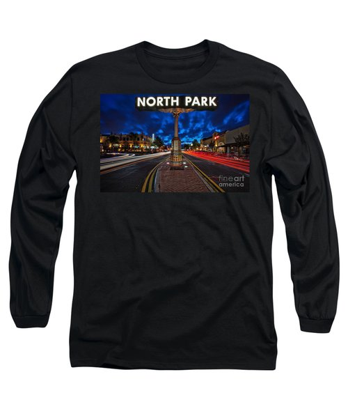 North Park Neon Sign San Diego California Long Sleeve T-Shirt